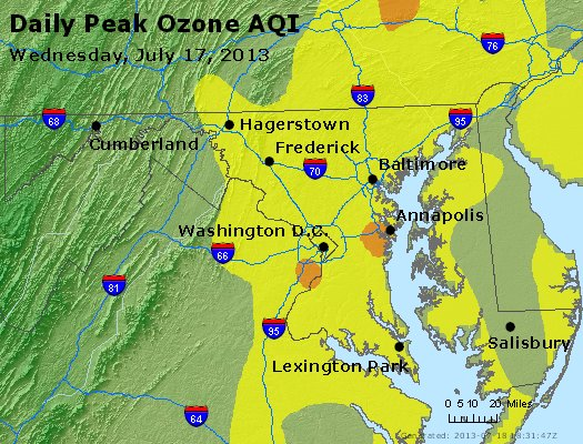 Peak Ozone (8-hour) - http://files.airnowtech.org/airnow/2013/20130717/peak_o3_maryland.jpg