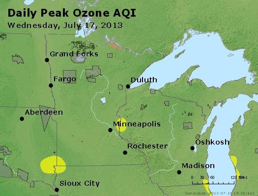 Peak Ozone (8-hour) - http://files.airnowtech.org/airnow/2013/20130717/peak_o3_mn_wi.jpg