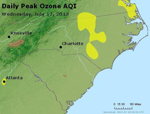 Peak Ozone (8-hour) - http://files.airnowtech.org/airnow/2013/20130717/peak_o3_nc_sc.jpg