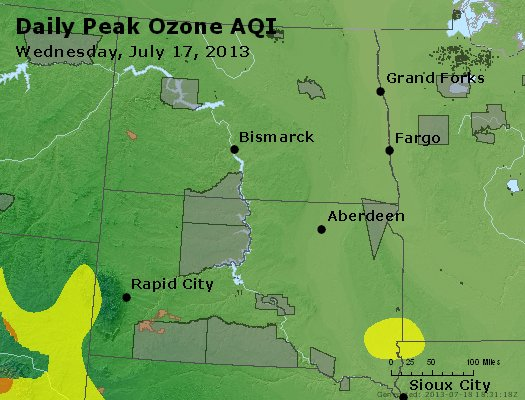 Peak Ozone (8-hour) - http://files.airnowtech.org/airnow/2013/20130717/peak_o3_nd_sd.jpg