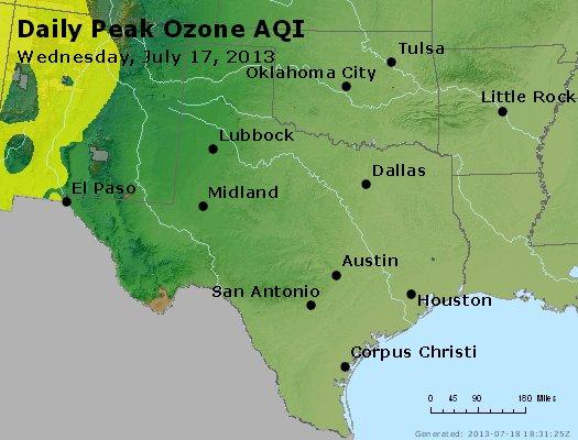 Peak Ozone (8-hour) - http://files.airnowtech.org/airnow/2013/20130717/peak_o3_tx_ok.jpg