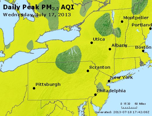 Peak Particles PM<sub>2.5</sub> (24-hour) - http://files.airnowtech.org/airnow/2013/20130717/peak_pm25_ny_pa_nj.jpg