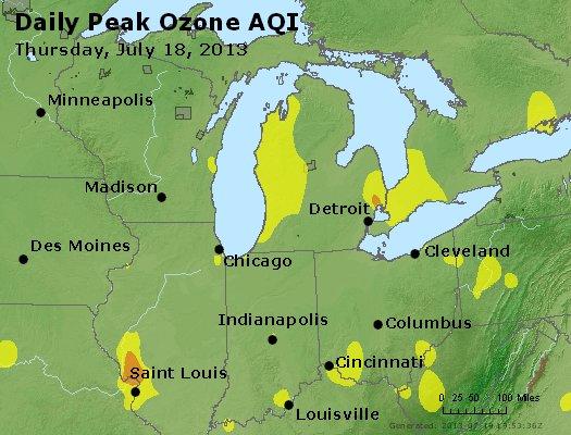 Peak Ozone (8-hour) - http://files.airnowtech.org/airnow/2013/20130718/peak_o3_mi_in_oh.jpg