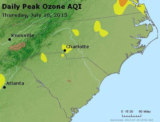 Peak Ozone (8-hour) - http://files.airnowtech.org/airnow/2013/20130718/peak_o3_nc_sc.jpg