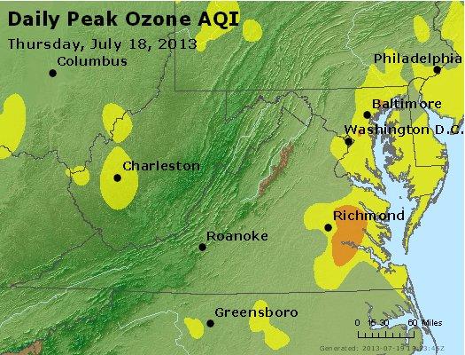 Peak Ozone (8-hour) - http://files.airnowtech.org/airnow/2013/20130718/peak_o3_va_wv_md_de_dc.jpg