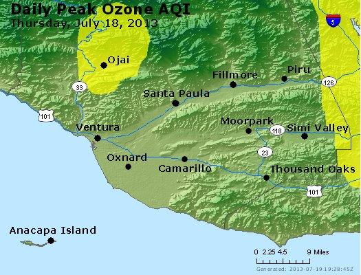 Peak Ozone (8-hour) - http://files.airnowtech.org/airnow/2013/20130718/peak_o3_ventura.jpg