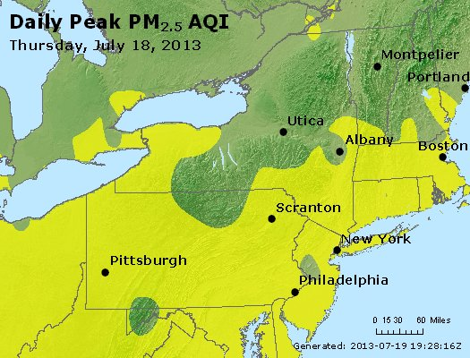 Peak Particles PM<sub>2.5</sub> (24-hour) - http://files.airnowtech.org/airnow/2013/20130718/peak_pm25_ny_pa_nj.jpg