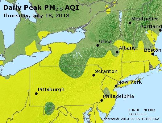 Peak Particles PM<sub>2.5</sub> (24-hour) - http://files.airnowtech.org/airnow/2013/20130718/peak_pm25_ny_pa_nj.jpg