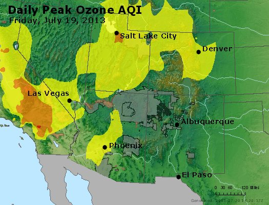 Peak Ozone (8-hour) - http://files.airnowtech.org/airnow/2013/20130719/peak_o3_co_ut_az_nm.jpg