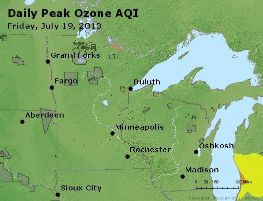 Peak Ozone (8-hour) - http://files.airnowtech.org/airnow/2013/20130719/peak_o3_mn_wi.jpg