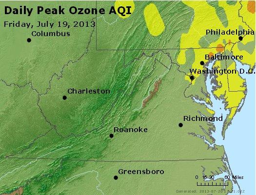 Peak Ozone (8-hour) - http://files.airnowtech.org/airnow/2013/20130719/peak_o3_va_wv_md_de_dc.jpg