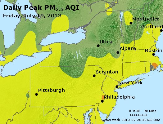 Peak Particles PM<sub>2.5</sub> (24-hour) - http://files.airnowtech.org/airnow/2013/20130719/peak_pm25_ny_pa_nj.jpg