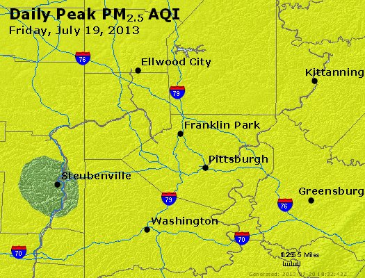 Peak Particles PM<sub>2.5</sub> (24-hour) - http://files.airnowtech.org/airnow/2013/20130719/peak_pm25_pittsburgh_pa.jpg