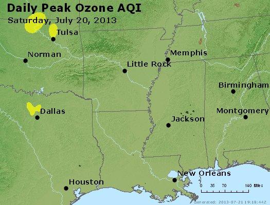 Peak Ozone (8-hour) - http://files.airnowtech.org/airnow/2013/20130720/peak_o3_ar_la_ms.jpg