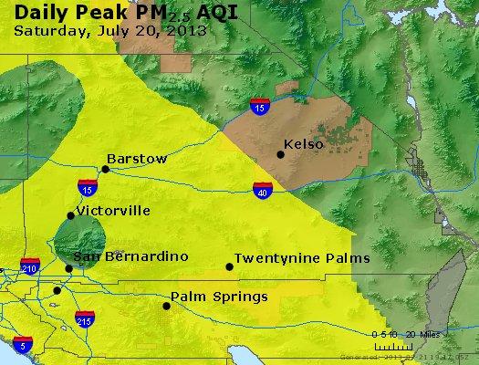 Peak Particles PM<sub>2.5</sub> (24-hour) - http://files.airnowtech.org/airnow/2013/20130720/peak_pm25_sanbernardino_ca.jpg