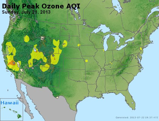 Peak Ozone (8-hour) - http://files.airnowtech.org/airnow/2013/20130721/peak_o3_usa.jpg