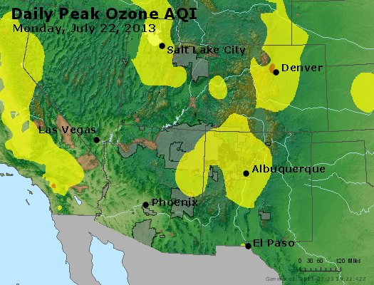 Peak Ozone (8-hour) - http://files.airnowtech.org/airnow/2013/20130722/peak_o3_co_ut_az_nm.jpg
