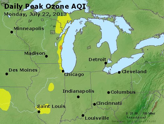 Peak Ozone (8-hour) - http://files.airnowtech.org/airnow/2013/20130722/peak_o3_mi_in_oh.jpg