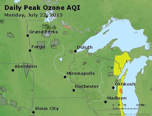 Peak Ozone (8-hour) - http://files.airnowtech.org/airnow/2013/20130722/peak_o3_mn_wi.jpg