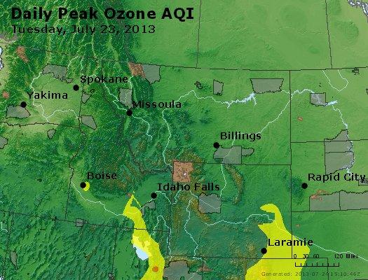 Peak Ozone (8-hour) - http://files.airnowtech.org/airnow/2013/20130723/peak_o3_mt_id_wy.jpg