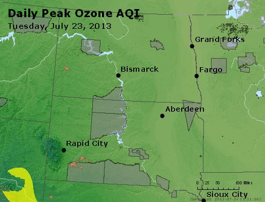Peak Ozone (8-hour) - http://files.airnowtech.org/airnow/2013/20130723/peak_o3_nd_sd.jpg