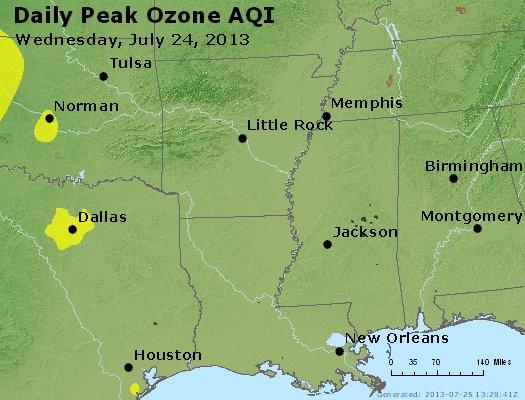 Peak Ozone (8-hour) - http://files.airnowtech.org/airnow/2013/20130724/peak_o3_ar_la_ms.jpg