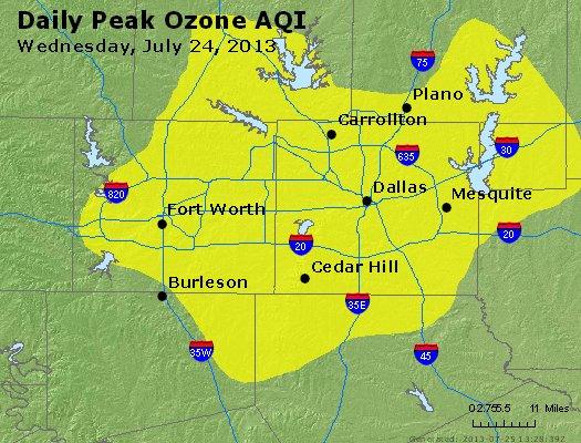 Peak Ozone (8-hour) - http://files.airnowtech.org/airnow/2013/20130724/peak_o3_dallas_tx.jpg