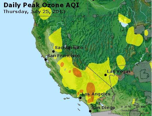 Peak Ozone (8-hour) - http://files.airnowtech.org/airnow/2013/20130725/peak_o3_ca_nv.jpg