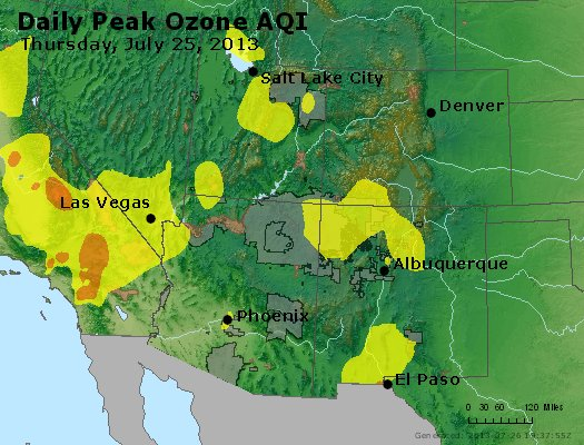 Peak Ozone (8-hour) - http://files.airnowtech.org/airnow/2013/20130725/peak_o3_co_ut_az_nm.jpg