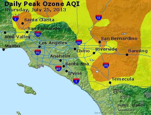 Peak Ozone (8-hour) - http://files.airnowtech.org/airnow/2013/20130725/peak_o3_losangeles_ca.jpg