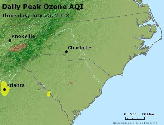 Peak Ozone (8-hour) - http://files.airnowtech.org/airnow/2013/20130725/peak_o3_nc_sc.jpg
