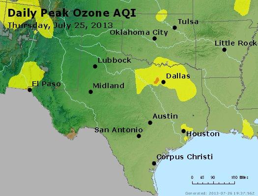 Peak Ozone (8-hour) - http://files.airnowtech.org/airnow/2013/20130725/peak_o3_tx_ok.jpg