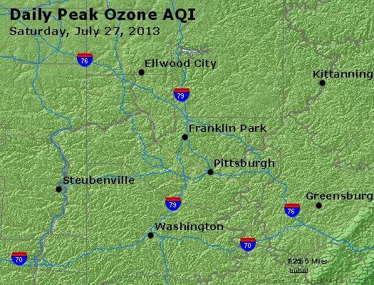 Peak Ozone (8-hour) - http://files.airnowtech.org/airnow/2013/20130727/peak_o3_pittsburgh_pa.jpg