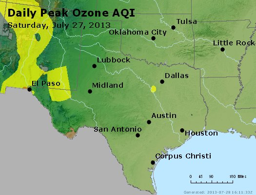 Peak Ozone (8-hour) - http://files.airnowtech.org/airnow/2013/20130727/peak_o3_tx_ok.jpg
