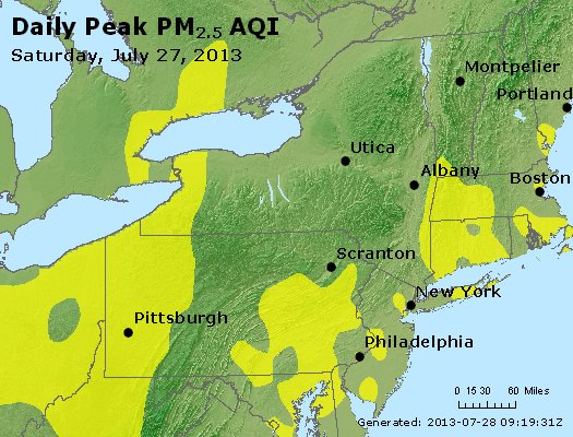 Peak Particles PM<sub>2.5</sub> (24-hour) - http://files.airnowtech.org/airnow/2013/20130727/peak_pm25_ny_pa_nj.jpg