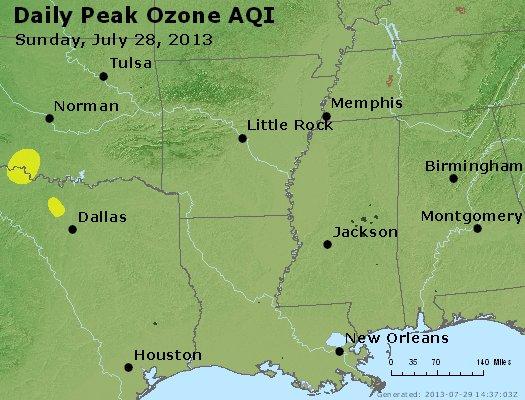 Peak Ozone (8-hour) - http://files.airnowtech.org/airnow/2013/20130728/peak_o3_ar_la_ms.jpg