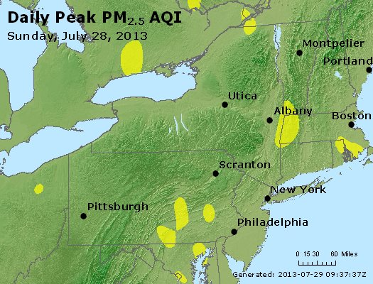 Peak Particles PM<sub>2.5</sub> (24-hour) - http://files.airnowtech.org/airnow/2013/20130728/peak_pm25_ny_pa_nj.jpg