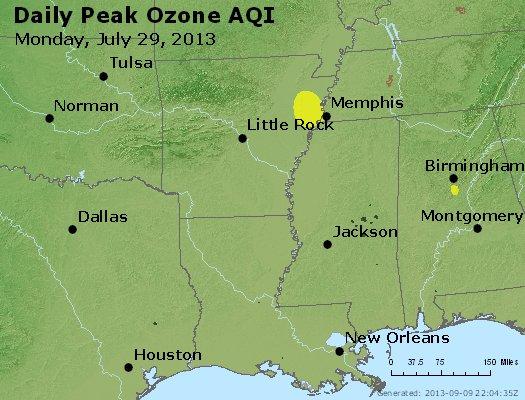Peak Ozone (8-hour) - http://files.airnowtech.org/airnow/2013/20130729/peak_o3_ar_la_ms.jpg