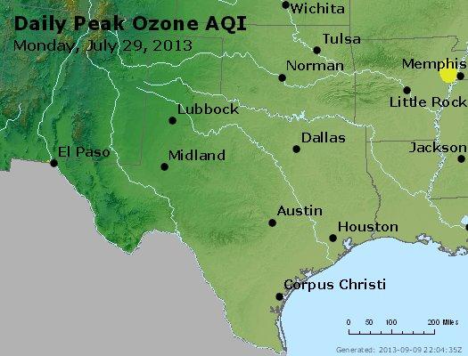 Peak Ozone (8-hour) - http://files.airnowtech.org/airnow/2013/20130729/peak_o3_tx_ok.jpg