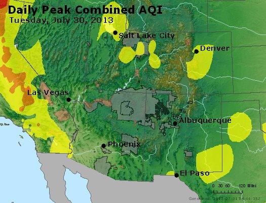 Peak AQI - http://files.airnowtech.org/airnow/2013/20130730/peak_aqi_co_ut_az_nm.jpg