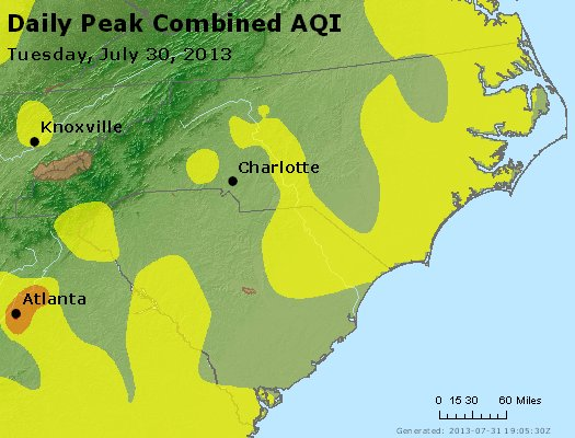 Peak AQI - http://files.airnowtech.org/airnow/2013/20130730/peak_aqi_nc_sc.jpg