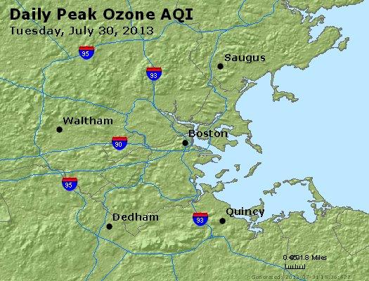 Peak Ozone (8-hour) - http://files.airnowtech.org/airnow/2013/20130730/peak_o3_boston_ma.jpg