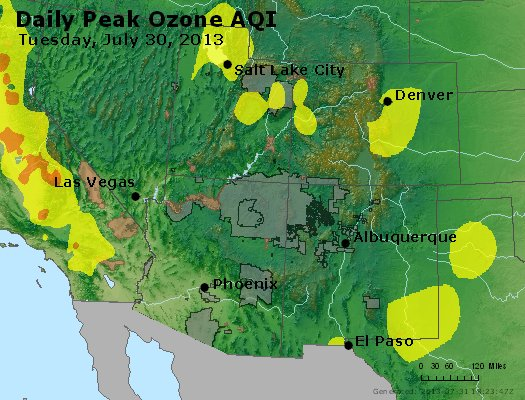 Peak Ozone (8-hour) - http://files.airnowtech.org/airnow/2013/20130730/peak_o3_co_ut_az_nm.jpg