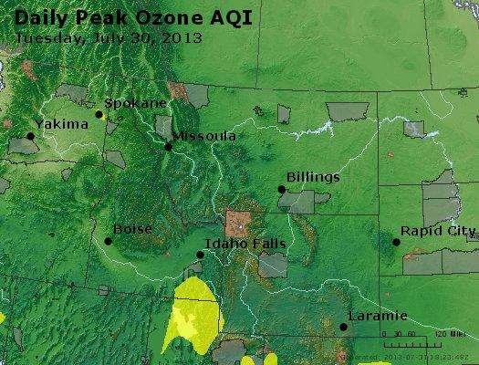 Peak Ozone (8-hour) - http://files.airnowtech.org/airnow/2013/20130730/peak_o3_mt_id_wy.jpg