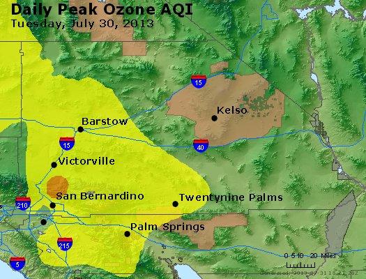 Peak Ozone (8-hour) - http://files.airnowtech.org/airnow/2013/20130730/peak_o3_sanbernardino_ca.jpg