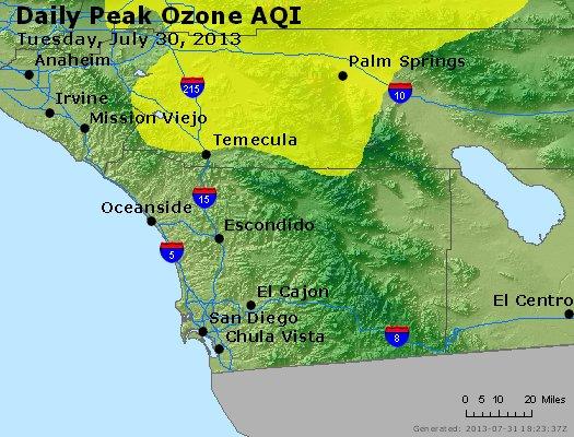 Peak Ozone (8-hour) - http://files.airnowtech.org/airnow/2013/20130730/peak_o3_sandiego_ca.jpg