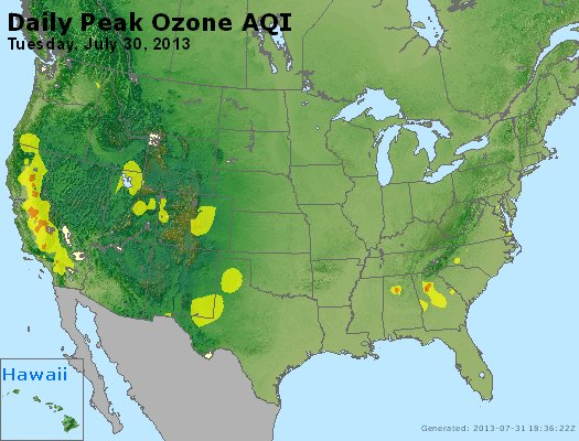 Peak Ozone (8-hour) - http://files.airnowtech.org/airnow/2013/20130730/peak_o3_usa.jpg