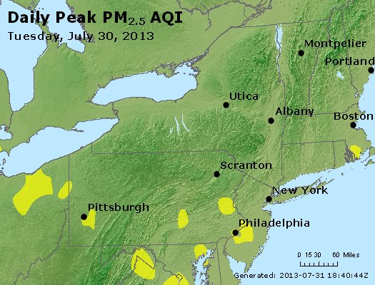 Peak Particles PM<sub>2.5</sub> (24-hour) - http://files.airnowtech.org/airnow/2013/20130730/peak_pm25_ny_pa_nj.jpg