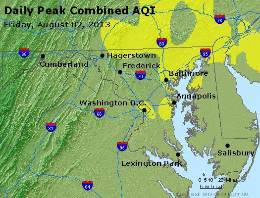 Peak AQI - http://files.airnowtech.org/airnow/2013/20130802/peak_aqi_maryland.jpg