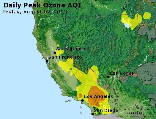 Peak Ozone (8-hour) - http://files.airnowtech.org/airnow/2013/20130802/peak_o3_ca_nv.jpg